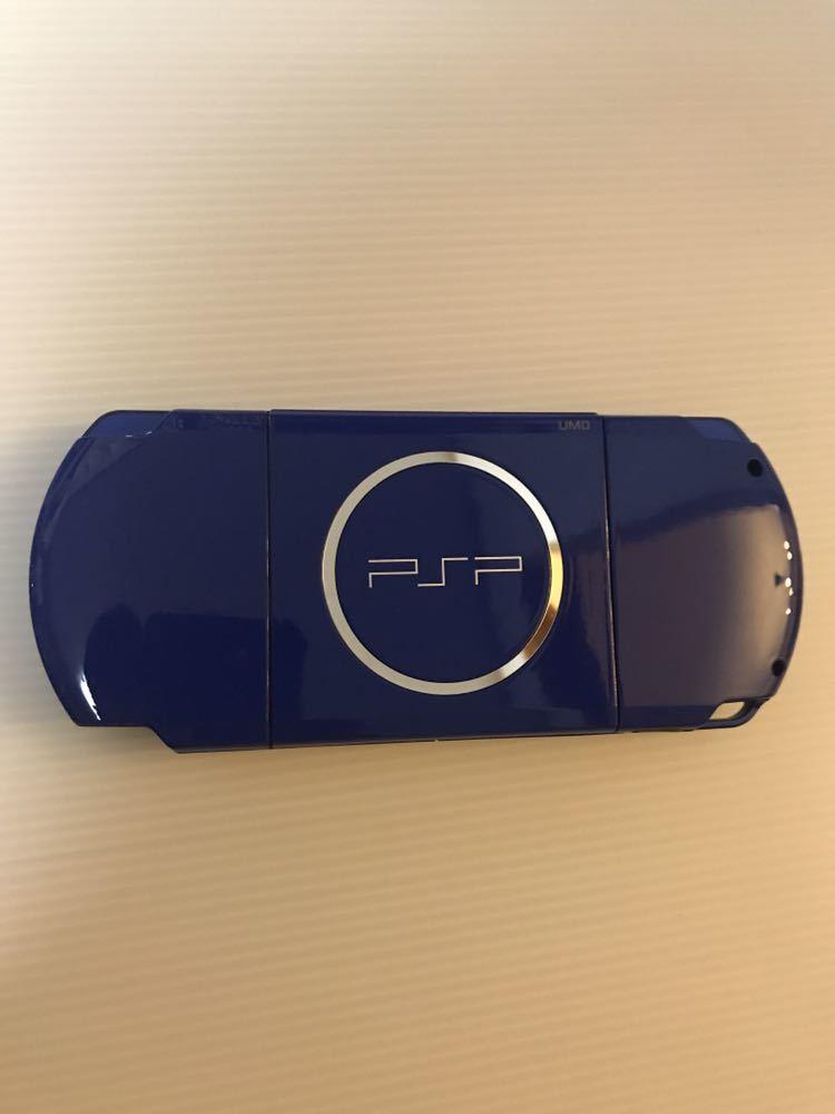 美品 動作良好 SONY PSP 3000 バリューパック ブルー ホワイト 動作確認済み クロスのみ欠品 外箱にキレあり_画像6