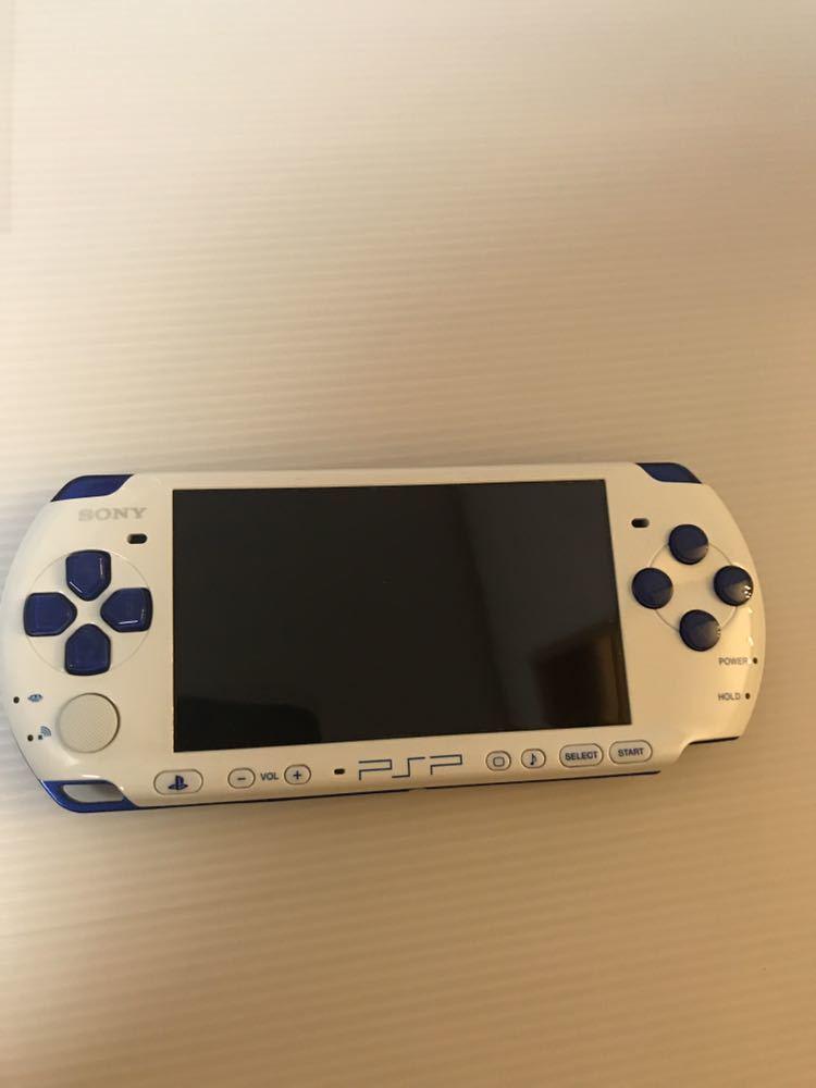 美品 動作良好 SONY PSP 3000 バリューパック ブルー ホワイト 動作確認済み クロスのみ欠品 外箱にキレあり_画像5