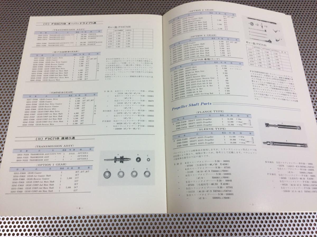 '73 日産自動車 フェアレディ 240Z HS30型 スポーツ オプション パーツカタログ 店印無し 送料¥250円_画像5