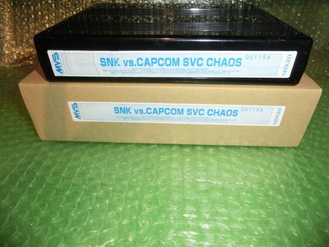 SNK VS. CAPCOM SVC CHAOS カートリッジ版 インスト 箱 取説付 シリアル一致 ジャンク PLAYMORE SVC カオス プレイモア NEOGEO MVS