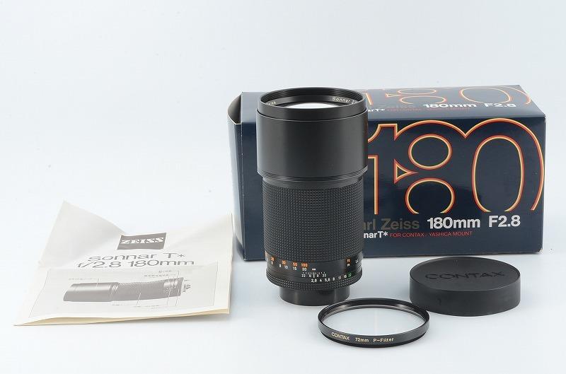 【新品級】 CONTAX Carl Zeiss Sonnar 180mm F2.8 T* MMJ RTS 元箱一式 #107832