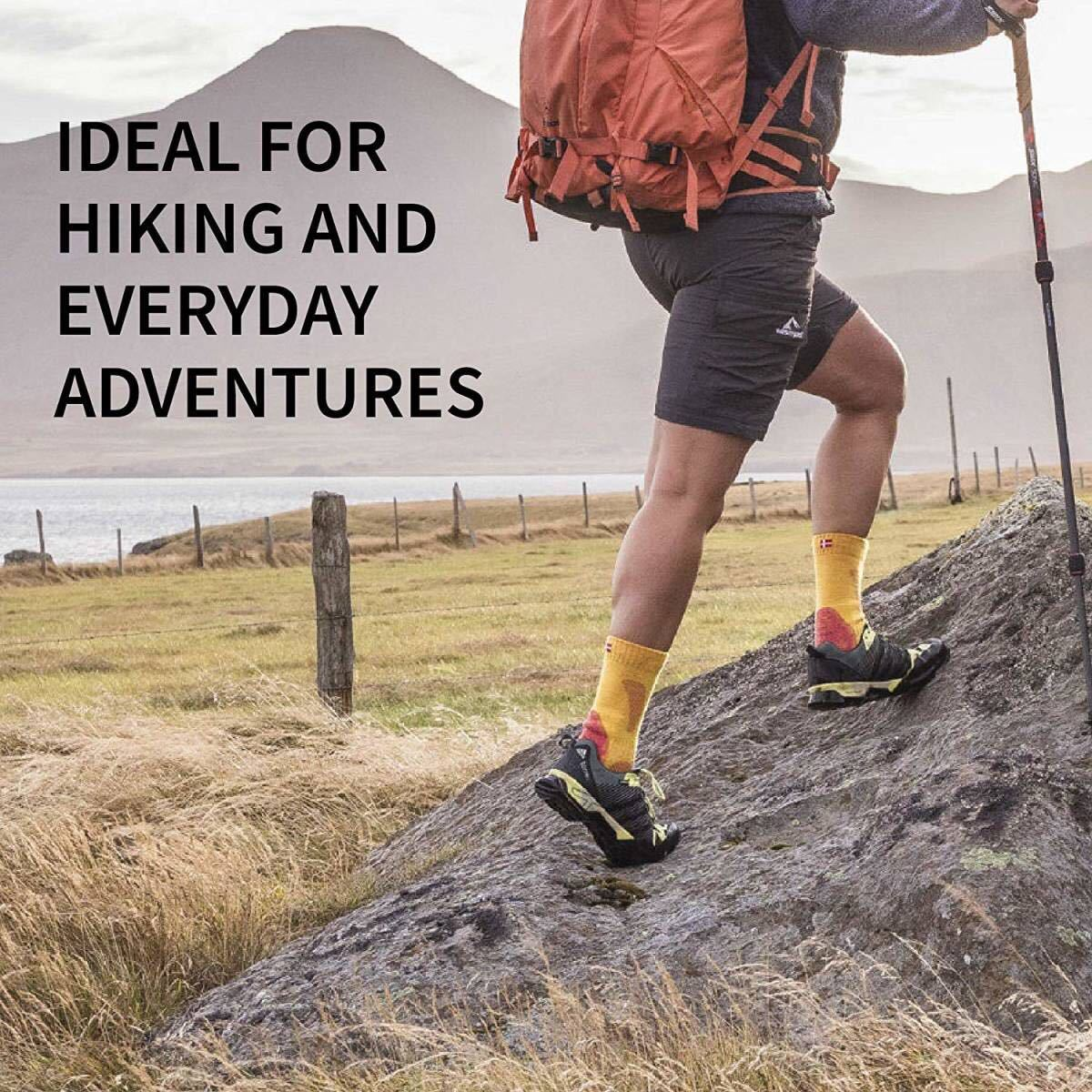 HIKING SOCKSメリノウール登山 靴下 アウトドア、男女兼用 3足セット