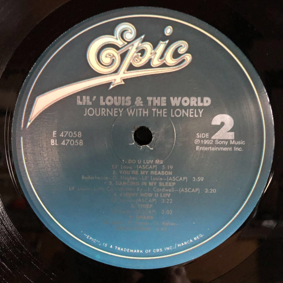 Lil' Louis & The World / Journey With The Lonely [LP]_画像3