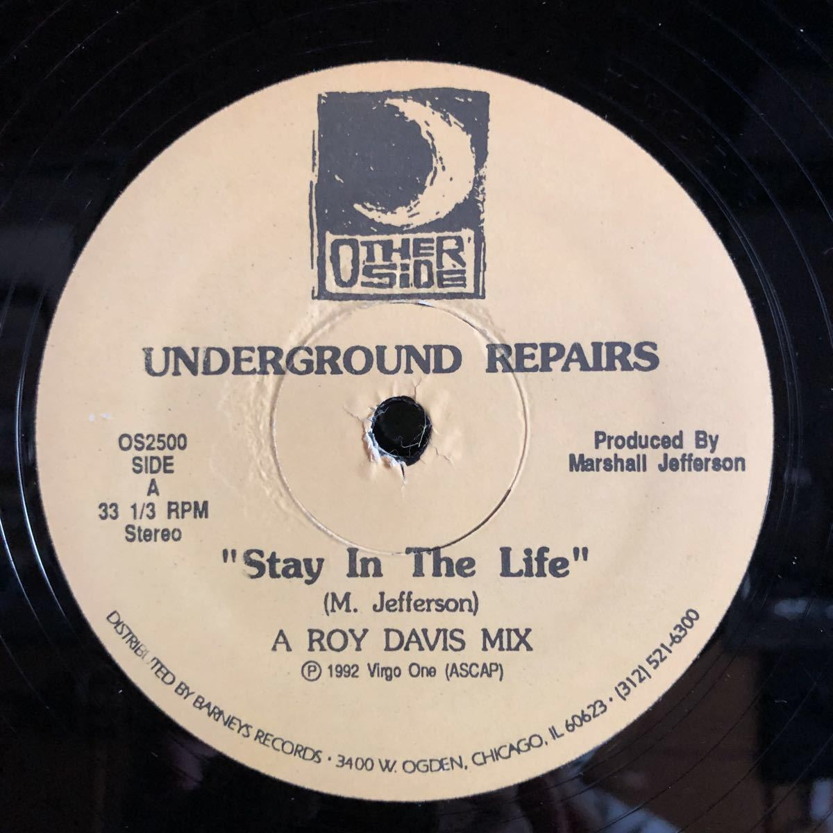 Underground Repairs / Stay In The Life [12inch]