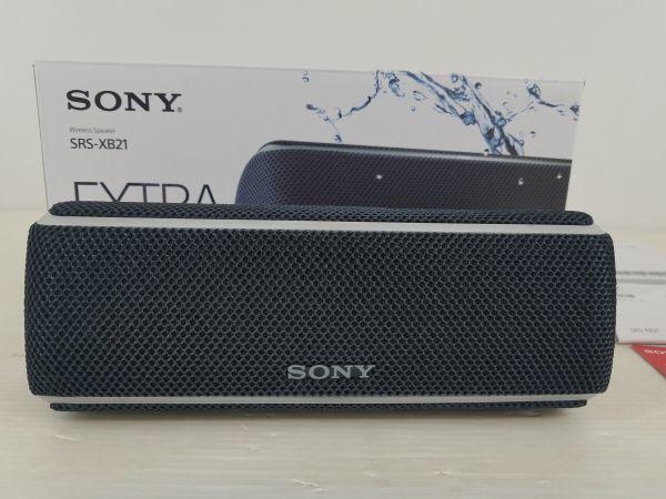 DD0032-190513-94【中古】ソニー SONY ワイヤレスポータブルスピーカー SRS-XB21 防水 防塵 防錆 Bluetooth 2018年モデル ブラック 黒