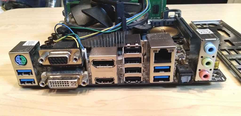 H97I-PLUS ( Mini-ITX ) & Core i5 4460 & DDR3 1600 DIMM 8GB 2枚 ( 16GB ) マザーボード CPU メモリ セット_画像4