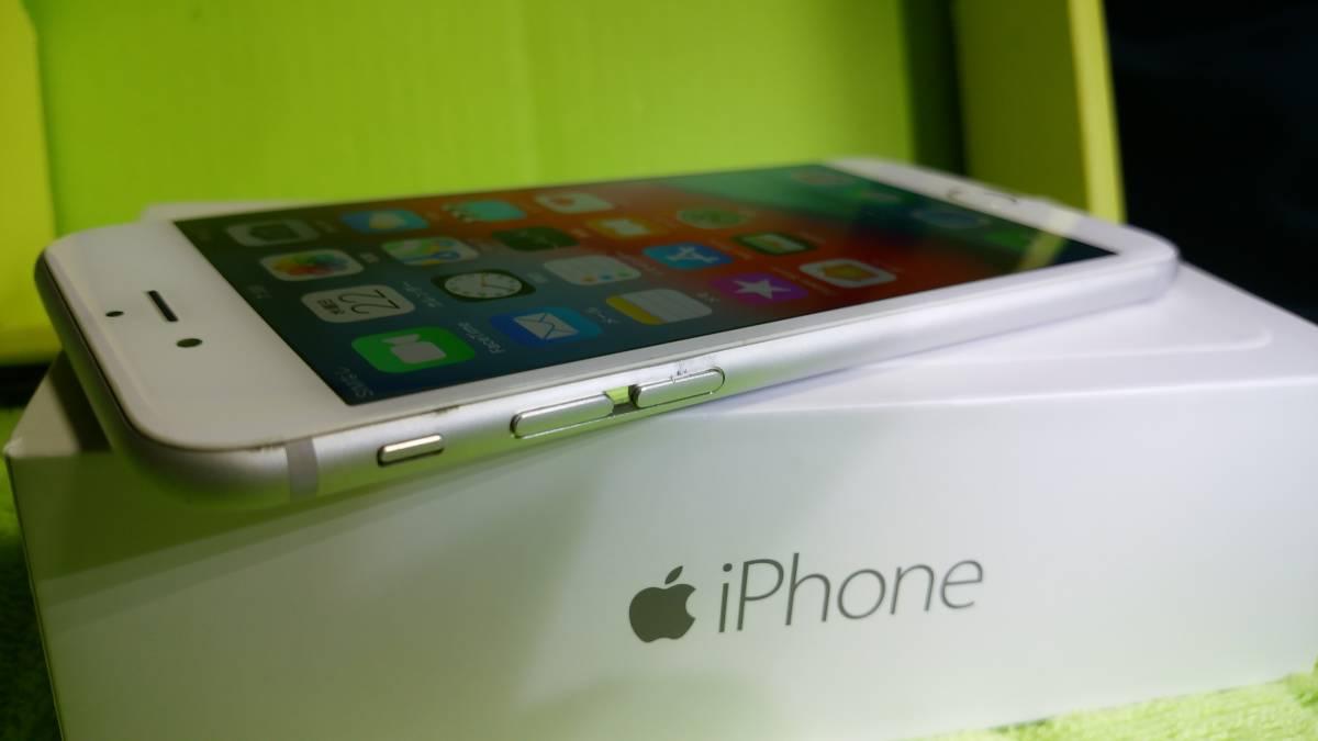 §§SoftBank iPhone 6 64GB シルバー 白 ☆パネル傷なし!バッテリー91%!完動・美品 ☆送料180_画像8