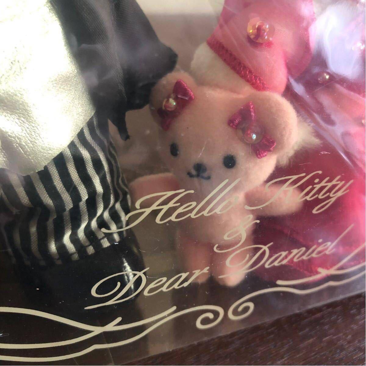 レア☆ハローキティ&ダニエル☆ウェディングドール ピンクドレス クマ ベビー 結婚式 ウェルカムドール ぬいぐるみ 2002年製 サンリオ_画像4