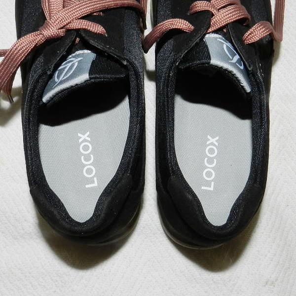 ■ LOCOX ロコックス ワイドステップウォーカー レディース ブラック 23.0cm ウォーキングシューズ 室内にて1回試し履きのみ!_画像8
