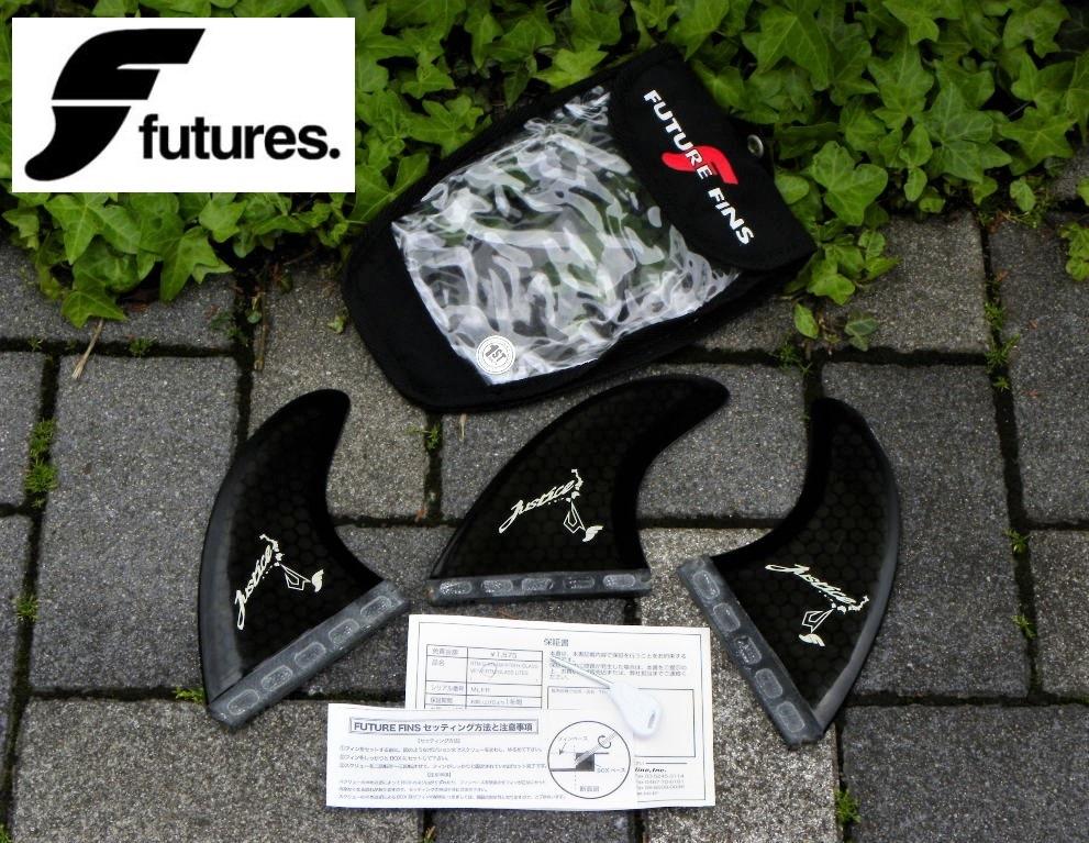 ★レア!FUTURES FIN X JUSTICE SURFBOARD/トライフィン(VF-RTM/MLFR/Height114mm/Base114mm/レンチ/ケース)USED