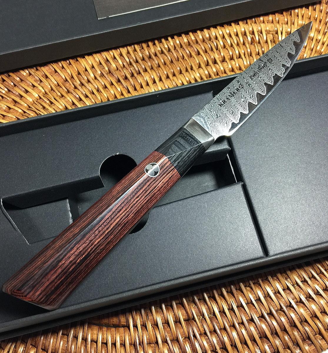 ZWILLING HENCKELS KRAMER ボブ・クレーマー Meiji Collection メイジ フラワー ダマスカス 刃渡り10cm ペティナイフ レア品