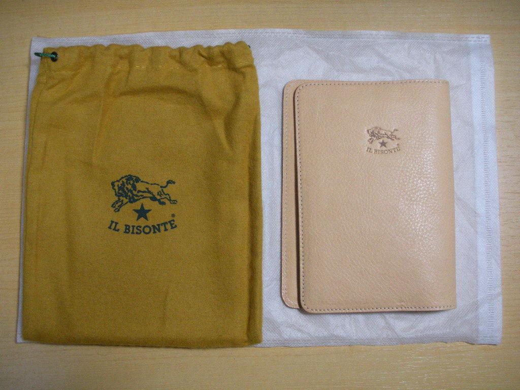 IL BISONTE イル ビゾンテ 皮製新品未使用ブックカバーです。