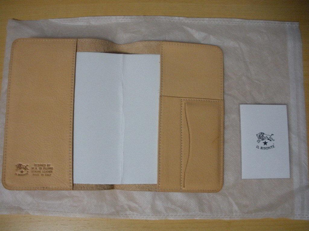 IL BISONTE イル ビゾンテ 皮製新品未使用ブックカバーです。_画像3