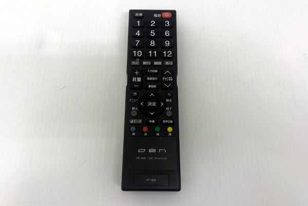 ドウシシャ DTCシリーズテレビ用リモコン【RT-001】