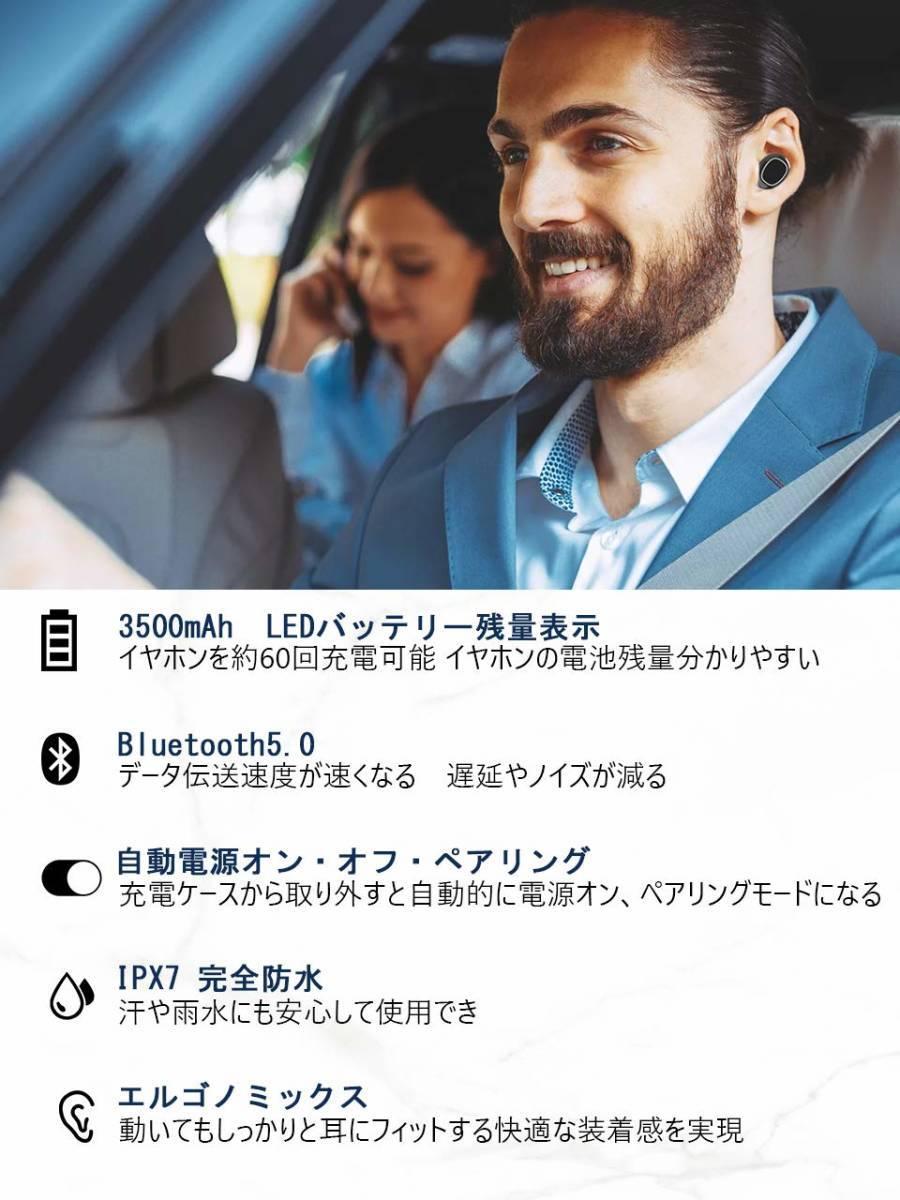 [新品1円スタート]OKIMO LEDディスプレイ Bluetooth イヤホン ワイヤレス 電池残量 Hi-Fi 高音質_画像2