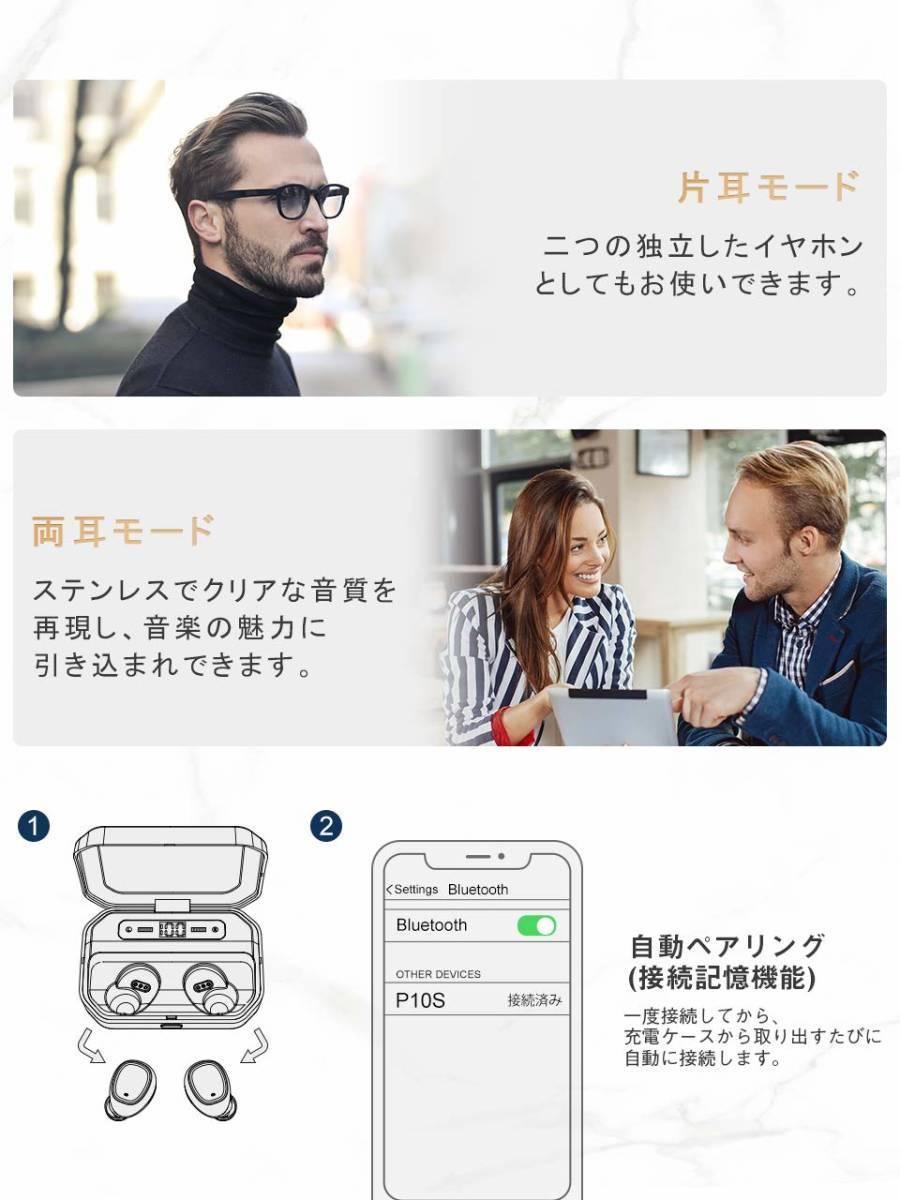 [新品1円スタート]OKIMO LEDディスプレイ Bluetooth イヤホン ワイヤレス 電池残量 Hi-Fi 高音質_画像5