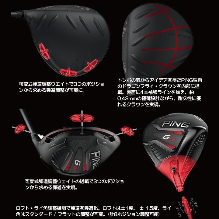 新品 ピン PING G410 PULS ドライバー 10.5度(R) Mitsubishi Tensei CK Orange 60 カーボン 2019モデル ミツビシ テンセイ_画像5