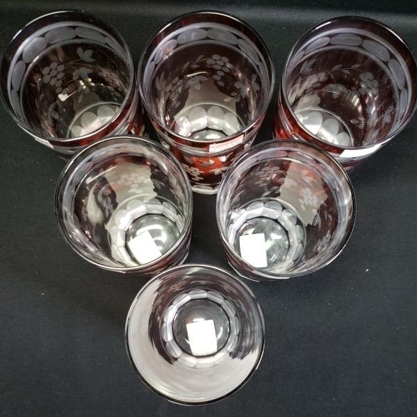 未使用 切子クリスタル 葡萄ブドウタンブラー/グラス 6個セット 石塚硝子 ガラス食器/業務用/店舗用/カフェ/レストラン_画像4