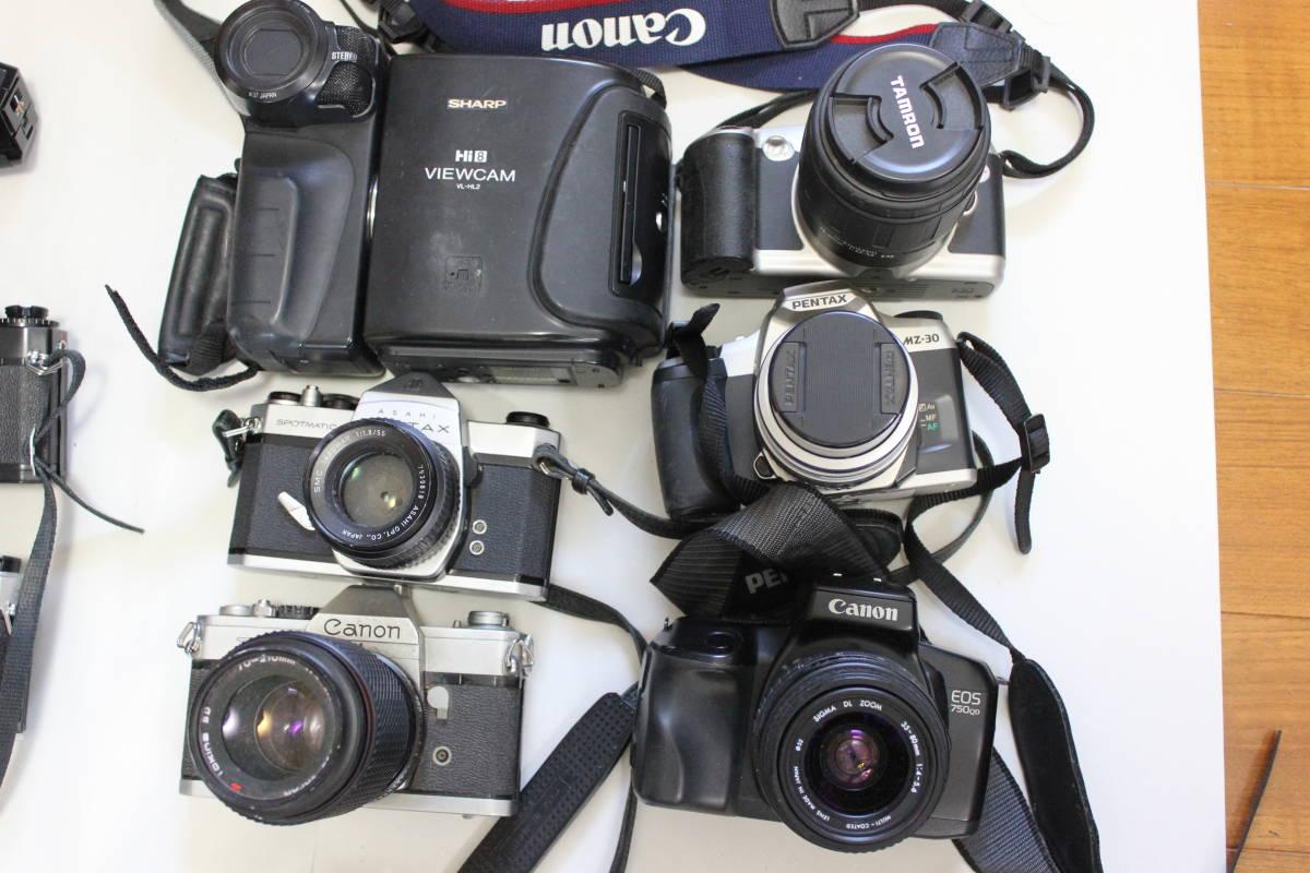 一眼レフカメラ① lumix/tamron/pentax/canon/ricoh/konica/fujica/nikon/minolta ジャンク アンティーク 骨董_画像4