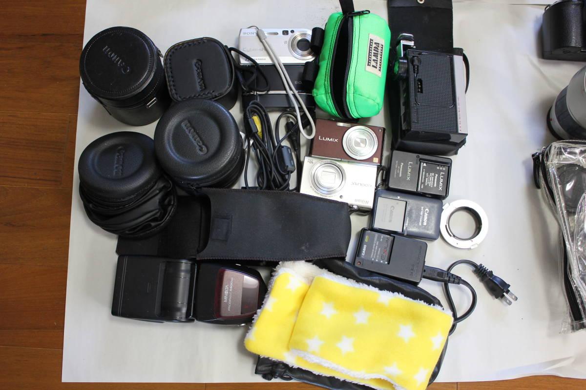 一眼レフカメラ① lumix/tamron/pentax/canon/ricoh/konica/fujica/nikon/minolta ジャンク アンティーク 骨董_画像2