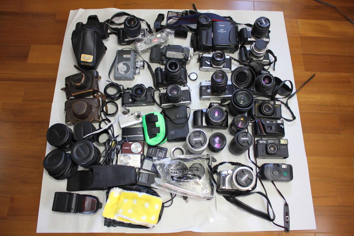 一眼レフカメラ① lumix/tamron/pentax/canon/ricoh/konica/fujica/nikon/minolta ジャンク アンティーク 骨董