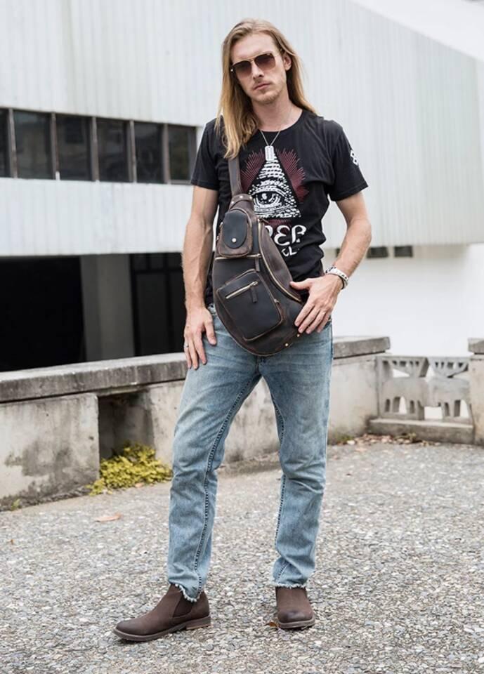 ♪★高品質★♪上層牛革100%ショルダーバッグ メンズバッグ ハンドバッグ ビジネスバッグ 鞄 書類かばん 斜めがけ ショルダーバッグ_画像10