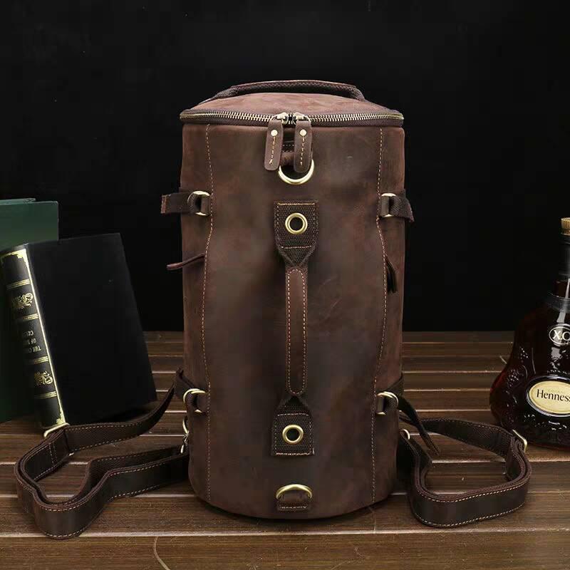 高級牛革/復古風/本革レザーバックパック 職人手作り 手染め リュックサック 大容量 アウトドア.レジャーバッグ 旅行鞄
