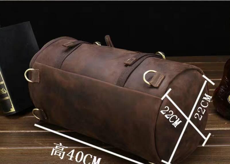 高級牛革/復古風/本革レザーバックパック 職人手作り 手染め リュックサック 大容量 アウトドア.レジャーバッグ 旅行鞄_画像3