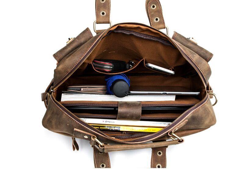 【定価65万】.【純手工細作】上層牛革100%メンズビジネスバッグ 書類かばん ビジネスバッグ ショルダーバッグ メンズバッグ 鞄_画像6