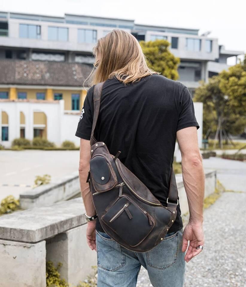 ♪★高品質★♪上層牛革100%ショルダーバッグ メンズバッグ ハンドバッグ ビジネスバッグ 鞄 書類かばん 斜めがけ ショルダーバッグ_画像7