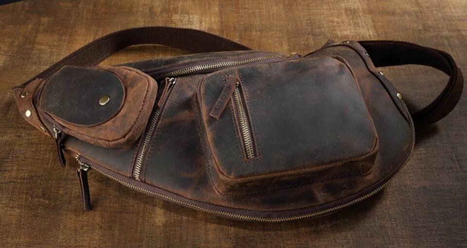 ♪★高品質★♪上層牛革100%ショルダーバッグ メンズバッグ ハンドバッグ ビジネスバッグ 鞄 書類かばん 斜めがけ ショルダーバッグ_画像5