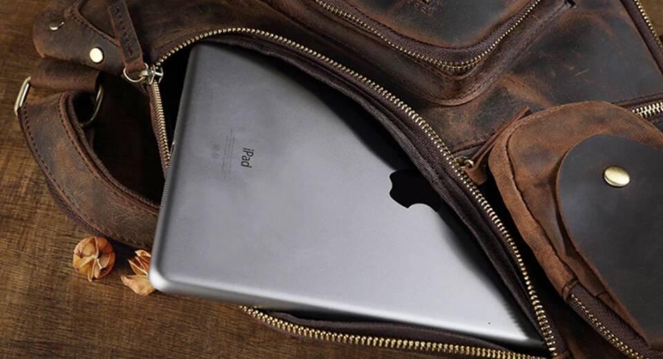 ♪★高品質★♪上層牛革100%ショルダーバッグ メンズバッグ ハンドバッグ ビジネスバッグ 鞄 書類かばん 斜めがけ ショルダーバッグ_画像9