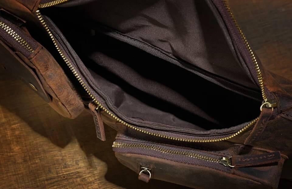 ♪★高品質★♪上層牛革100%ショルダーバッグ メンズバッグ ハンドバッグ ビジネスバッグ 鞄 書類かばん 斜めがけ ショルダーバッグ_画像8