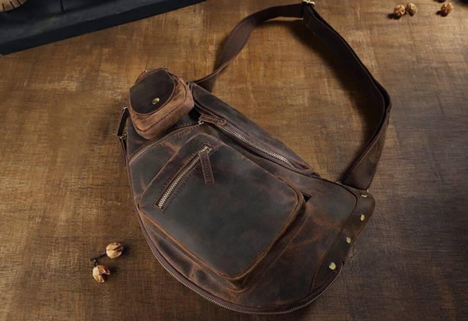♪★高品質★♪上層牛革100%ショルダーバッグ メンズバッグ ハンドバッグ ビジネスバッグ 鞄 書類かばん 斜めがけ ショルダーバッグ_画像3