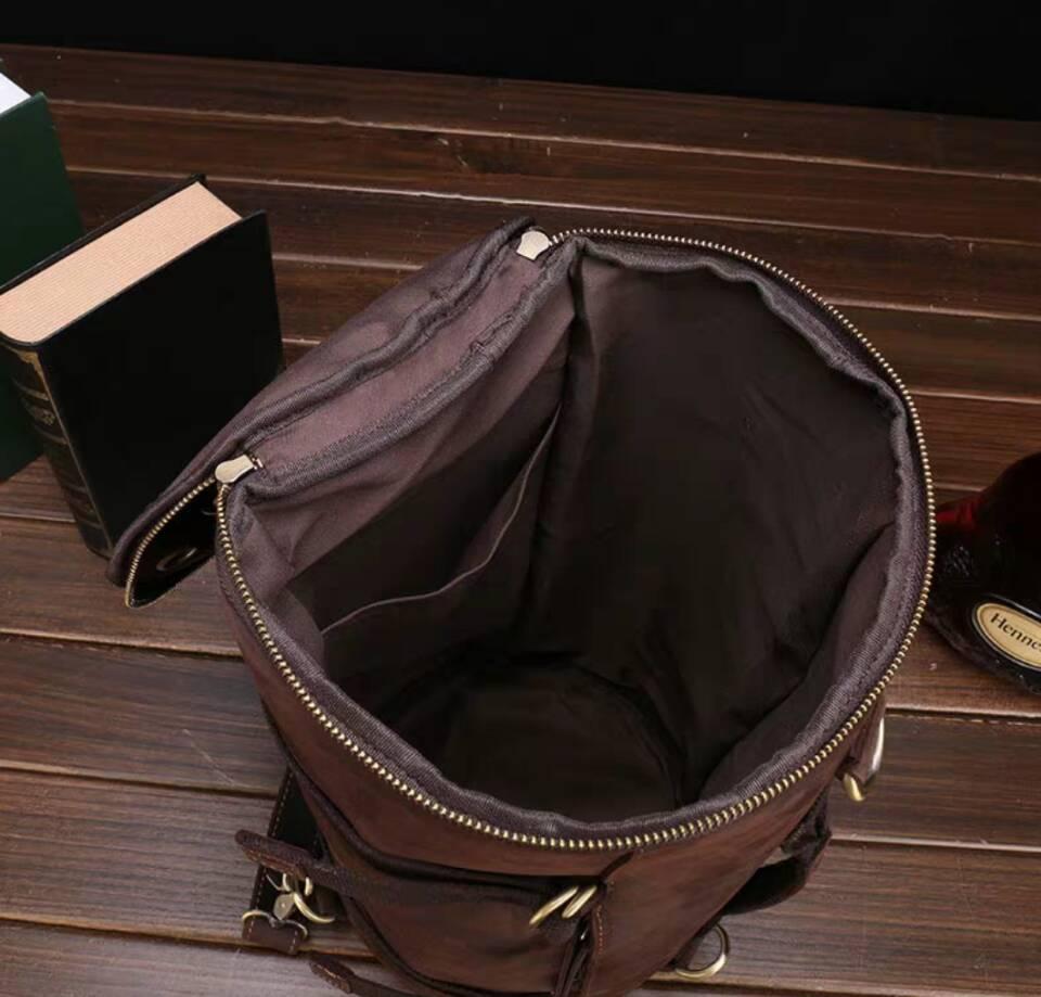 高級牛革/復古風/本革レザーバックパック 職人手作り 手染め リュックサック 大容量 アウトドア.レジャーバッグ 旅行鞄_画像5