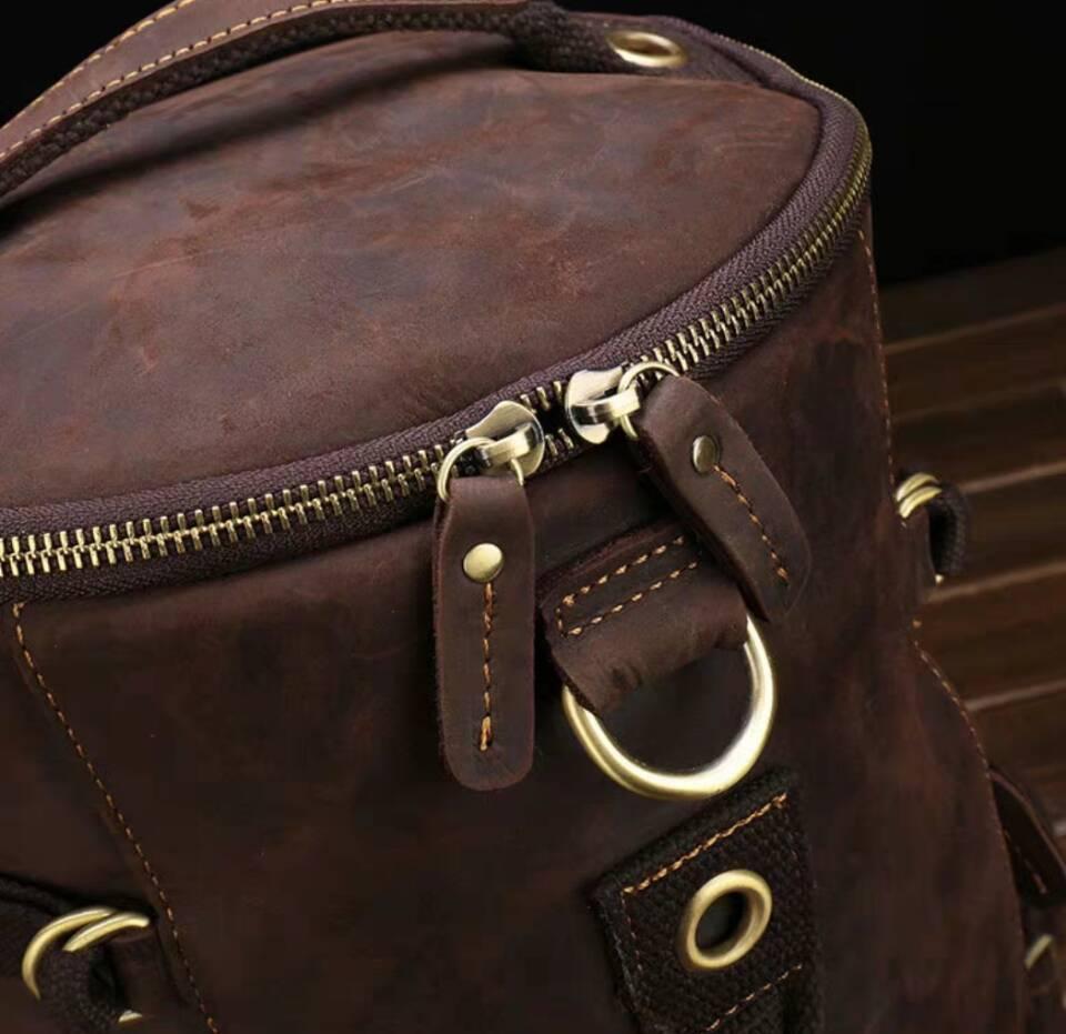 高級牛革/復古風/本革レザーバックパック 職人手作り 手染め リュックサック 大容量 アウトドア.レジャーバッグ 旅行鞄_画像8