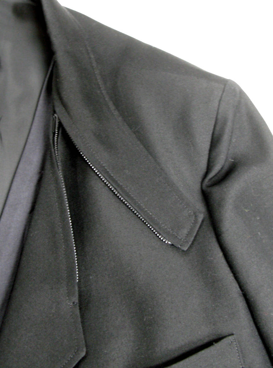 ヨウジ Yohji:顔モチーフ 別布付き ロング ジャケット ( Yohji Yamamoto pour HOMME jacket ワイズ コート 2018-19AW 古着 買取_画像8