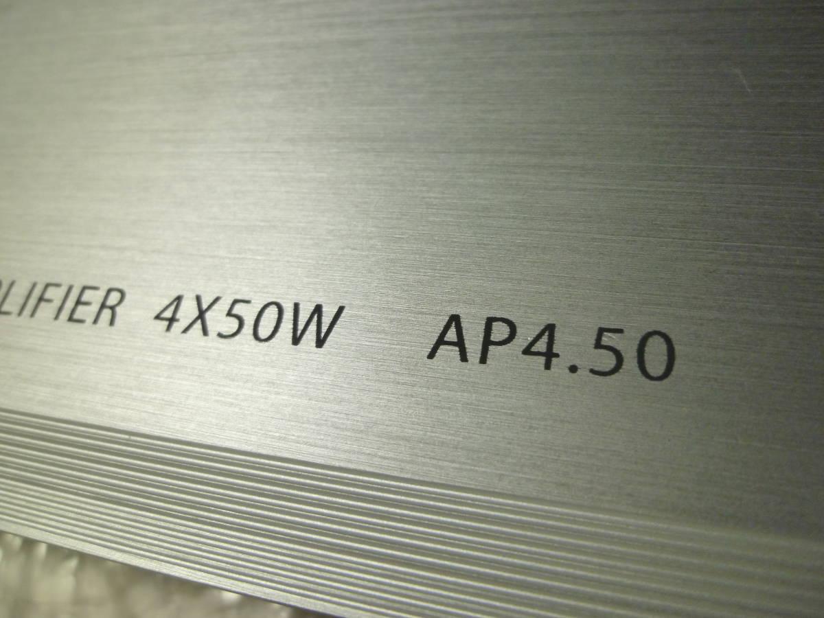 車載動作確認済み 10日間保証有り / PHASS ファス 廃盤品 AP4.50 4chパワーアンプ/カナレ4S6高級SP-K10m付き/配送は送料安いヤフネコ発送_画像9