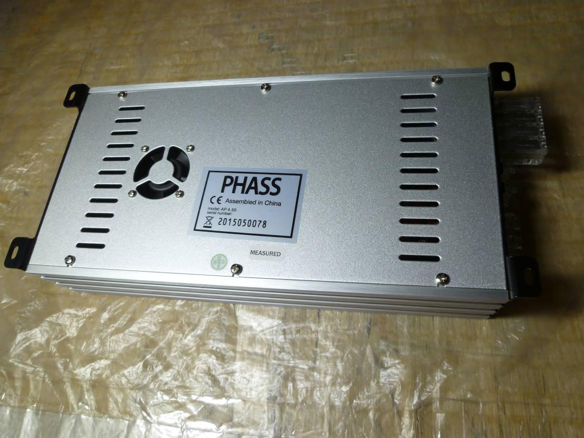 車載動作確認済み 10日間保証有り / PHASS ファス 廃盤品 AP4.50 4chパワーアンプ/カナレ4S6高級SP-K10m付き/配送は送料安いヤフネコ発送_新品切り取りカナレ4S6高級SP-K10m付きです