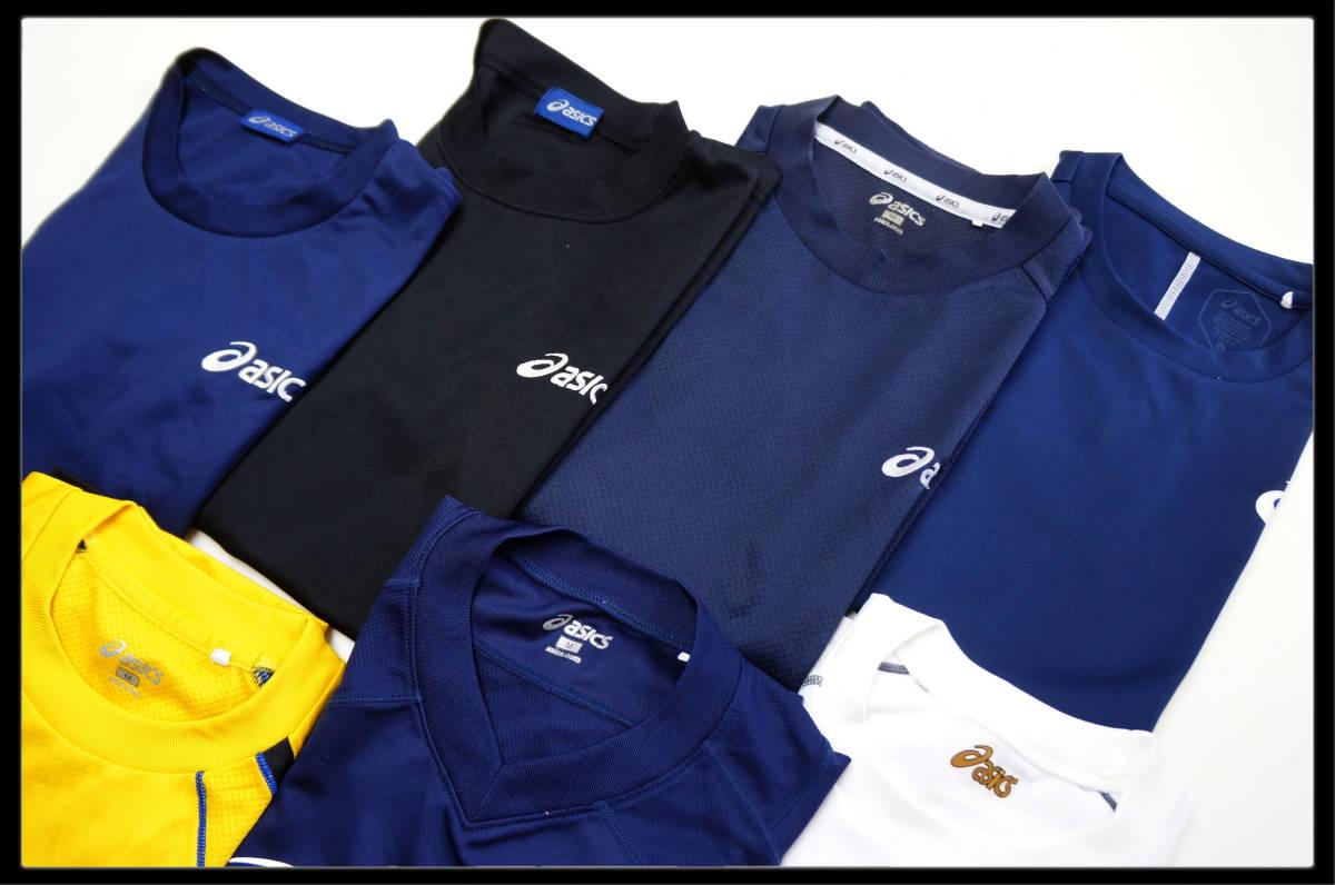 ★☆ asics(アシックス)のみ!! スポーツ半袖Tシャツのみ!☆★ メンズMサイズ スポーツ半袖Tシャツ×7枚セット■SOC-340_画像3