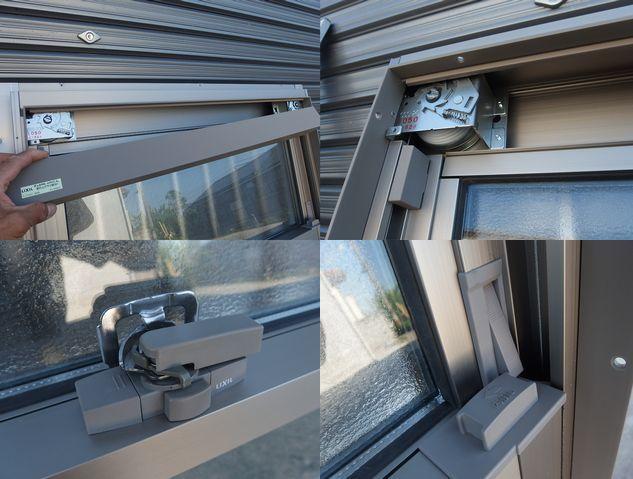 在庫品 アルミサッシ ペアガラス 上げ下げ窓 07407 シャイングレー 縦格子_画像8
