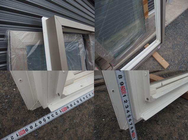 引取限定 樹脂サッシ 防犯 LowE ペアガラス 引違い窓 15020 プラチナステン_画像8