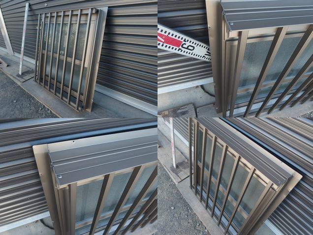 在庫品 アルミサッシ ペアガラス 上げ下げ窓 07407 シャイングレー 縦格子_画像7