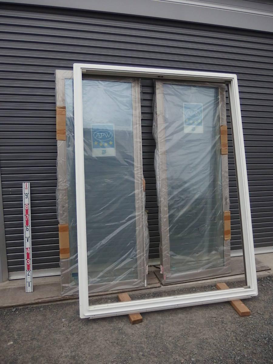 引取限定 樹脂サッシ 防犯 LowE ペアガラス 引違い窓 15020 プラチナステン_画像5