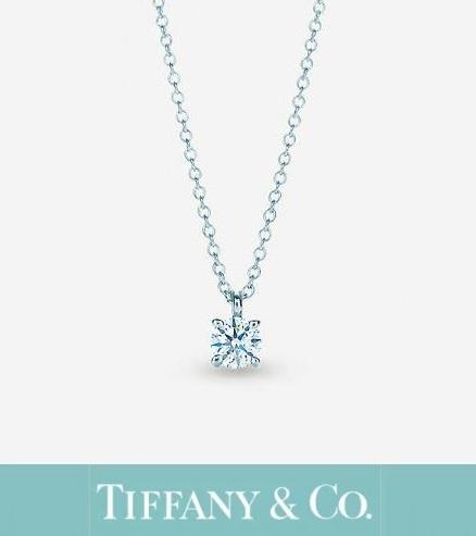 ◇一粒ダイヤ◇新品・ティファニー ソリティア プラチナ 0.17ctダイヤモンド ペンダント◇
