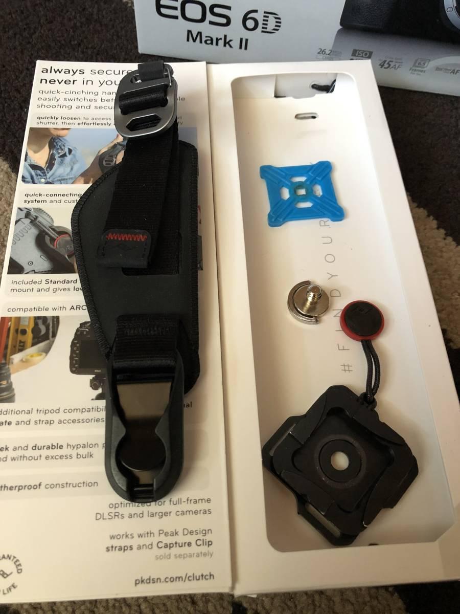 キャノン EOS 6D Mark II本体と ピークデザインハンドストラップ付き!_画像8