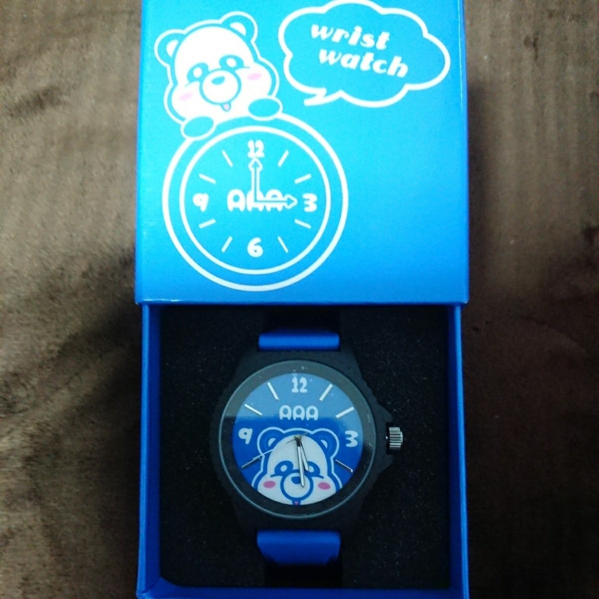 新品未使用 【AAA トリプルエー】 え~パンダ リストウォッチ 腕時計 與真司郎 ブルー 青 プライズ えーパンダ_画像1