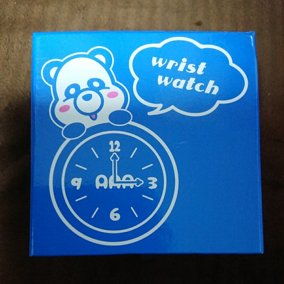 新品未使用 【AAA トリプルエー】 え~パンダ リストウォッチ 腕時計 與真司郎 ブルー 青 プライズ えーパンダ_画像2