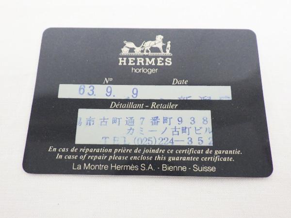 ♪ Hermes エルメス クリッパー CL6.720 クオーツ デイト 34mm QZ メンズ 旧バックル_画像10