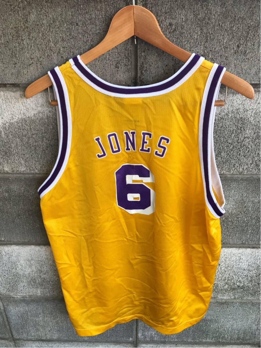 アメリカ買い付け品 1990s~ LAKERS x Champion レイカーズ x チャンピオンゲームシャツ メッシュ タンクトップ XL 18-20 ボーイズ_画像3